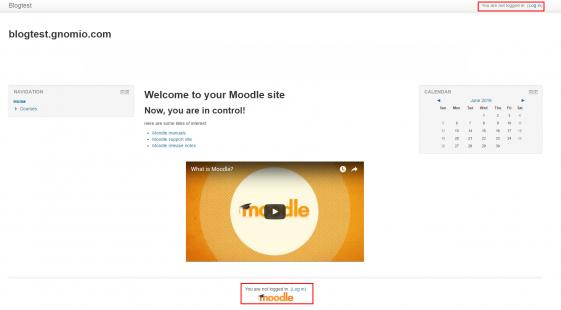 moodleログイン画面